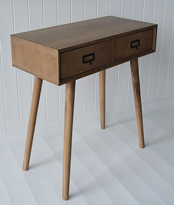 Scandi inspired Henley conosle table for New England, cottage and beach homes. Ideal hallway furniture