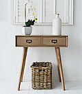 Henley console table for coastal, New England, Beach, Coastal and Cottage Interiors