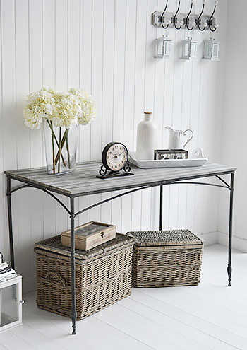 Maison Gray large grey console table