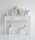 White Provence console table