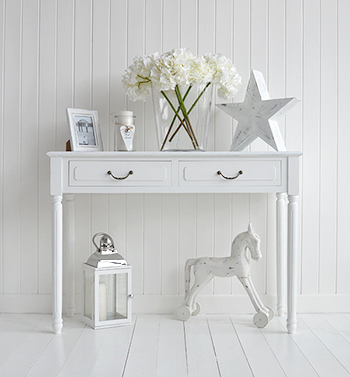 Provence white console table for hall furniture - White hall table uk ...