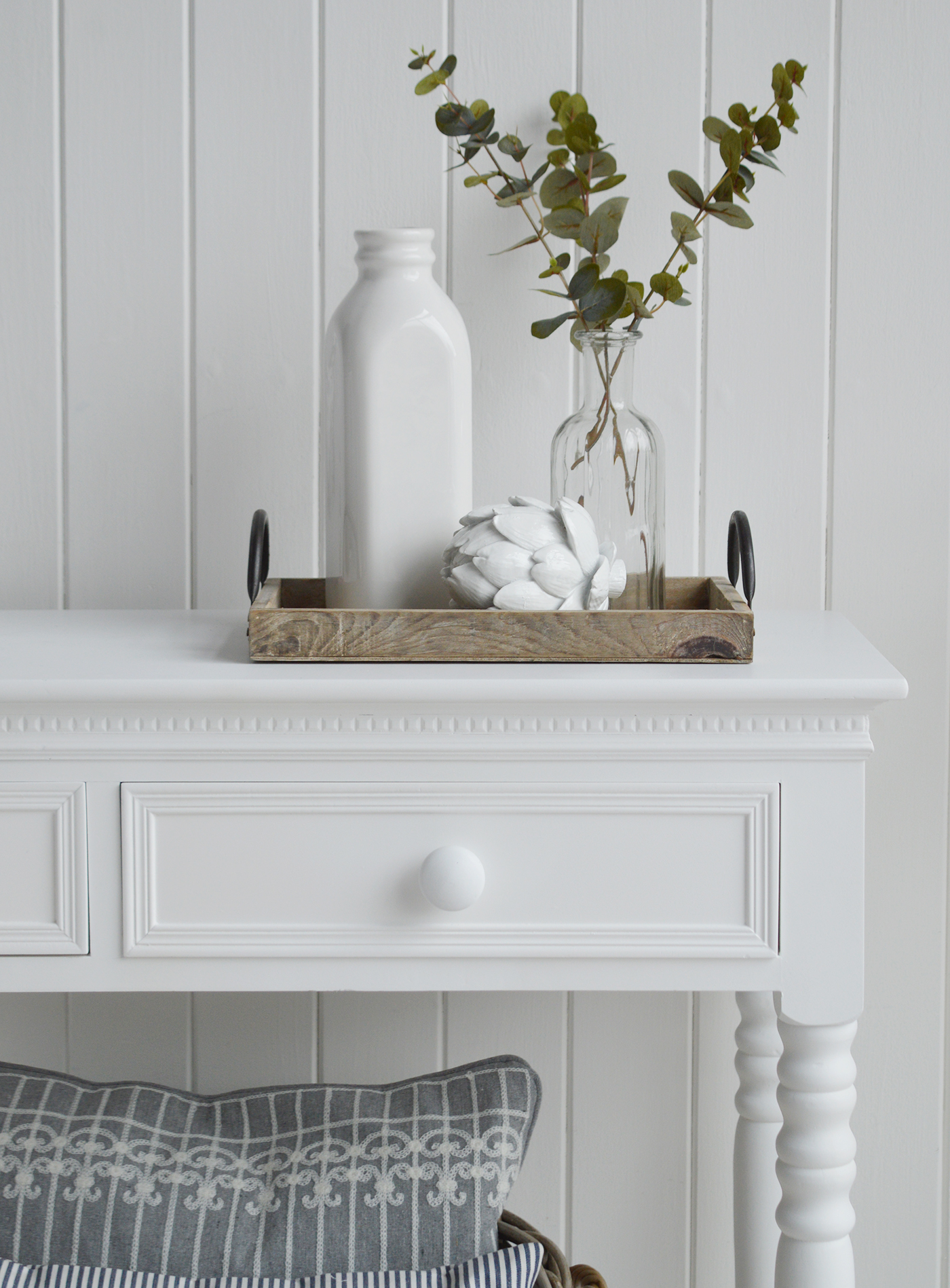White Decorative Home Accessories and Decor for New England style interiors