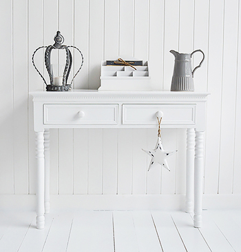New England white hall table