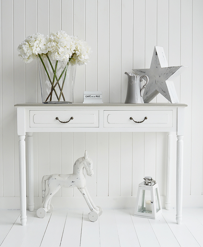 Grey Bedroom Accessories : cove bay white grey console table l from www.tehroony.com size 650 x 792 jpeg 249kB