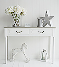 Cove Bay console table in grey and white