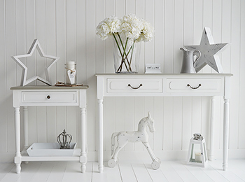 cove bay grey and white l table living and