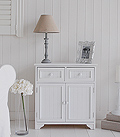 Maine white hallway cupboard