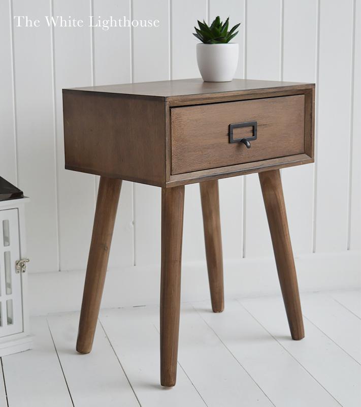 henley lamp bedside table coastal new england scandi. Black Bedroom Furniture Sets. Home Design Ideas
