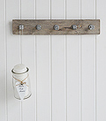 Coat hooks in a distressed industrial style