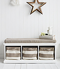 Kingston white storage bench