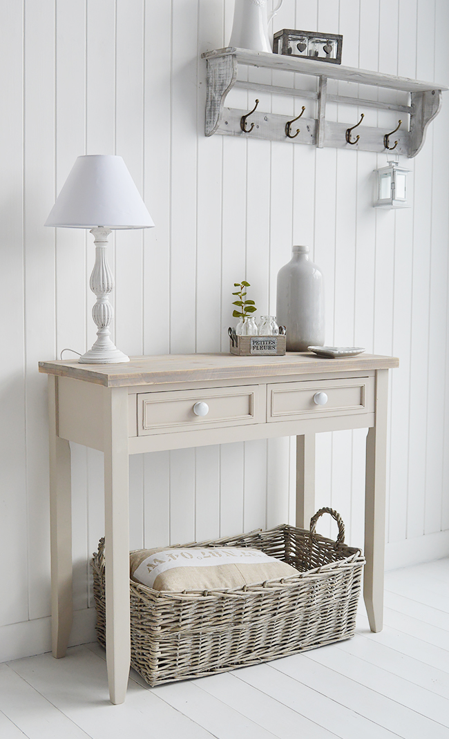 Kittery Pebble Grey Console Table The White Lighthouse