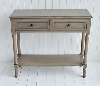 Newport French Grey Console Hallway Table For Country