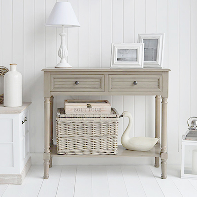 Newport French Grey country cottage console table