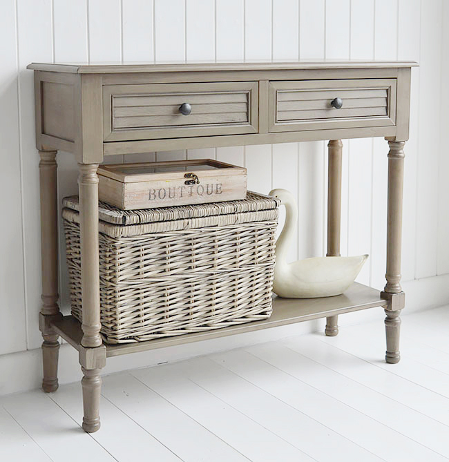Cottage style French Grey console table for hall furniture
