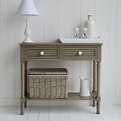 Newport French Grey beach cottage console table