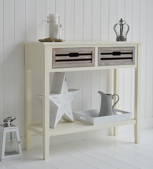 norfolk cream console table for hall furniture large. Black Bedroom Furniture Sets. Home Design Ideas