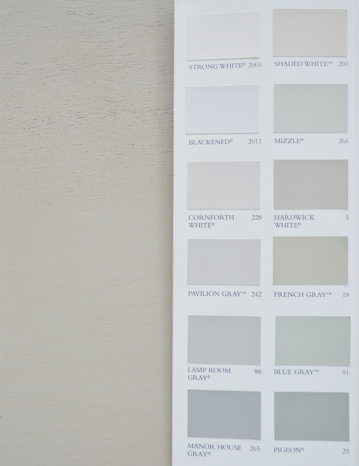 Shows the colour of the Plymouth grey table