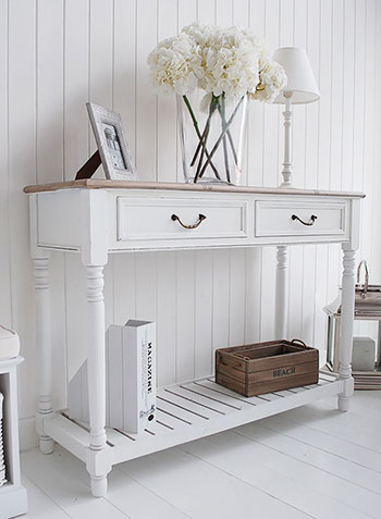 Provence console table white hall furniture - White hall table uk ...