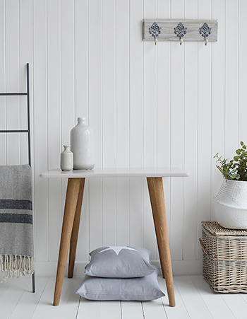 The Rhode Island grey table is a lovely addition to a white or grey hall in all styles of interiors. Such a simple but stunning grey table, The Rhode Island is perfect for living room, hallway furniture as a console table or desk.