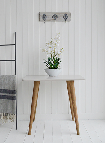 Rhode Island Grey Console Desk. A console table adds interest to your hall as well as giving you a place to place a lamp