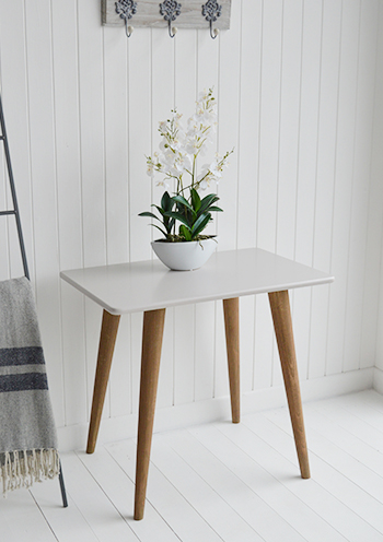 Such a simple but stunning grey table, The Rhode Island is perfect for living room, hallway furniture or bedroom as a console table, dressing table or desk.