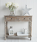 Richmond console table in limed wood
