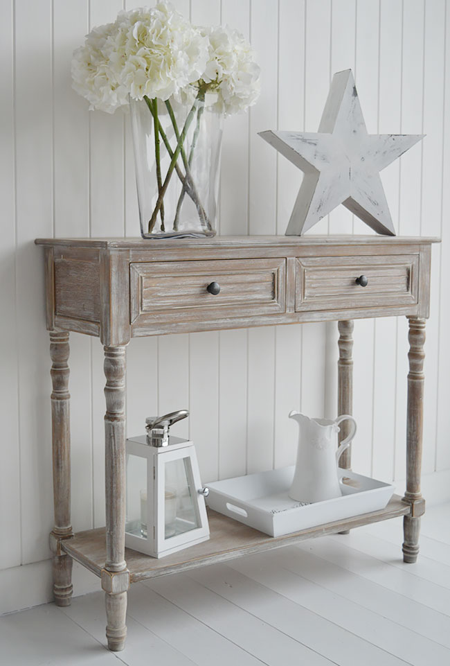 Richmond Furniture Range Bedside Lamp Table With Drawers From The White Lighthouse