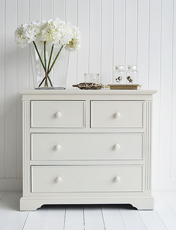 Rockport cream chest of drawers for living room furniture