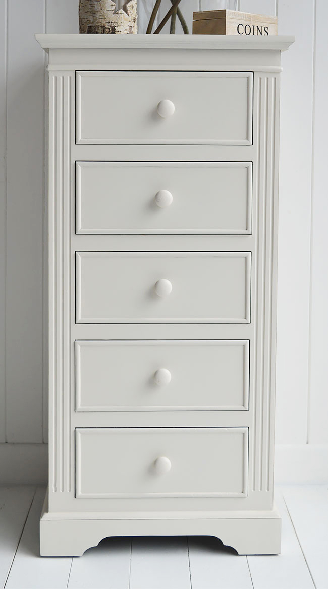 Rockport Ivory Tallboy Chest Of Drawers From The White