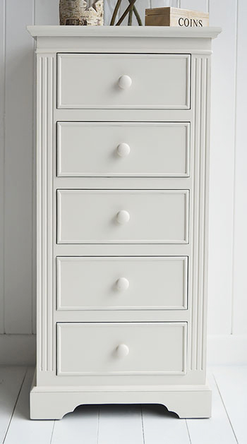 Rockport Ivory Tallboy Chest Of Drawers From The White Lighthouse