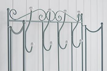 St Malo Grey Coat Rack with hooks for hallstorage furniture