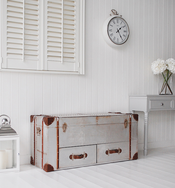 Hall furniture ideas. New England hall furniture from The White Lighthouse - A storage bench