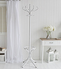 White bentwood Traditional Coat Stand