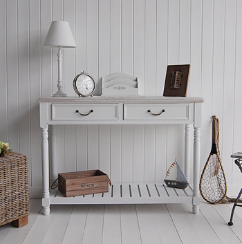 White Console Table Antique white console table