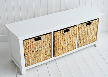 Portland Storage Seat With Baskets Hall Furniture