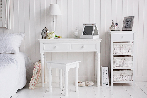 Dressing table or white desk
