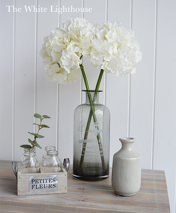 Styling your hall table with artificial flowers