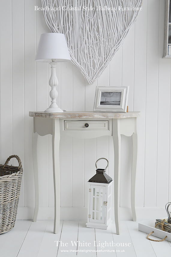 The White Lighthouse ideas on decorating a beach and coastal hallway furniture