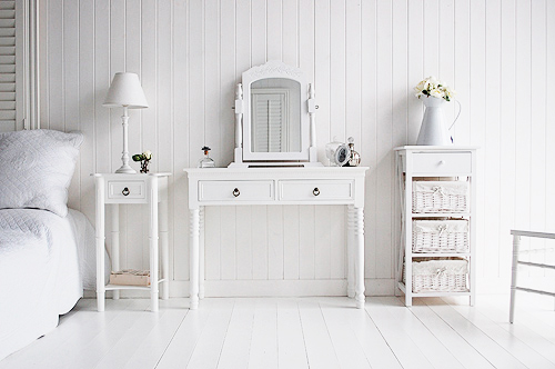 New England style white furniture