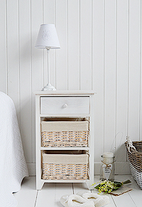 Cape Cod large white bedside table