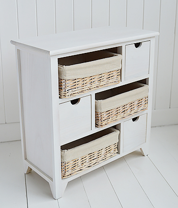 Cape Cod white wash bedroom, hallway and living room  storage furniture top