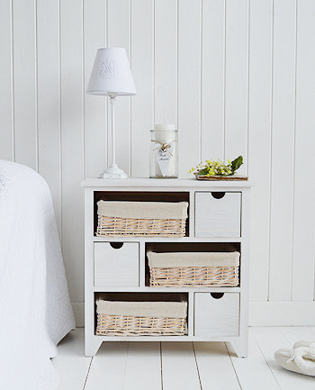 Cape Cod chest of drawers or large bedside table with 6 drawers