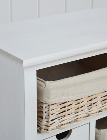 Cape Cod white wash  storage furniture finish