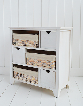Cape Cod white wash  bedroom and living room storage furniture
