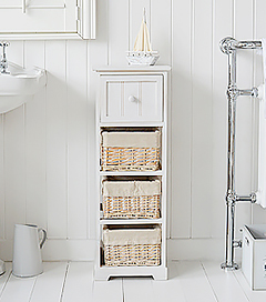 Cape Cod Slim 4 Drawer Bathroom Storage Furniture