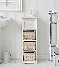 Cape Cod slim bathroom cabinet storage