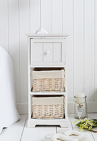 Cape Cod Small Bedside Table with 3 drawers
