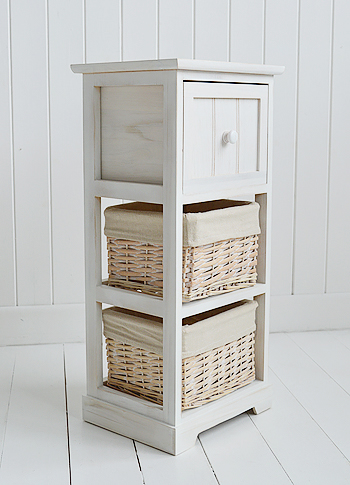 Cape Cod Bathroom Furniture storage basket