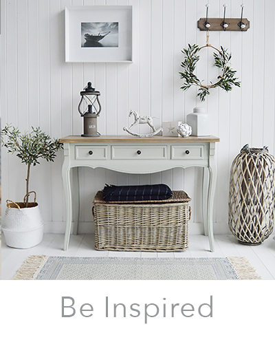 Be Inspired to decorate your hallway, ideas on how to decorate your white, New England, country, coastal, cottage or city hallways