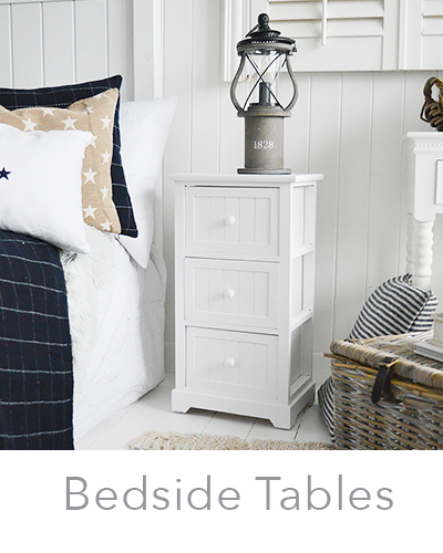 New England white bedside tables, very narrow bedsides ... See all our cabinets